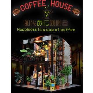 等一個人的Coffee Shop  Diy 手作LED 小屋  可作聖誕節 情人節 生日 交換禮物