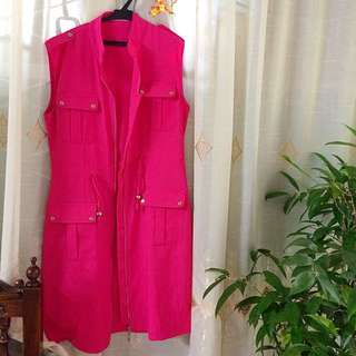 Weekender Hot Pink Sleeveless Coat
