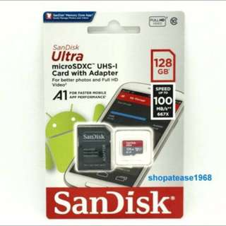 Sandisk Ultra Micro SD SDXC Card 128G 128GB 100MB/s Class 10