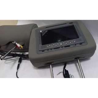 """7"""" Headrest DVD player [HR688] [GREY WITHOUT ZIPPER]"""