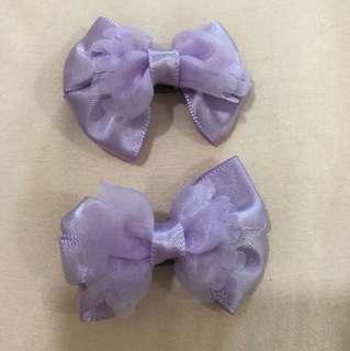 Purple hair clips
