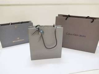 Branded paperbag authentic paper bag original ck calvin klein mulberry alexander mqueen
