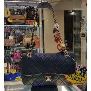 Chanel CC Logo 2.55 black leather Chain Shoulder Hand Bag PHW 香奈兒 黑色 皮料 金鍊 金扣 鍊袋 肩袋 手袋 袋