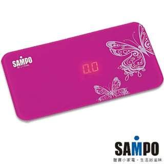 [全新]SAMPO 魔術鏡面體重計