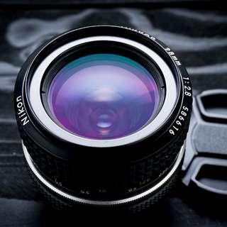 Nikon 28mm f2.8 AI manual focus lens