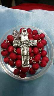 Scented Rose Rosary Large with sheppered cross from Vatican city
