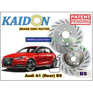 "AUDI A1 disc rotor KAIDON (Rear) type ""RS"" / ""BS"" spec"
