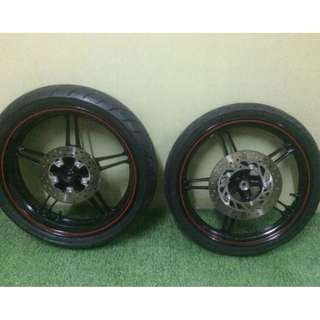 Rim Original Yamaha Y15zr, Include Tyre, Bearing and Disc