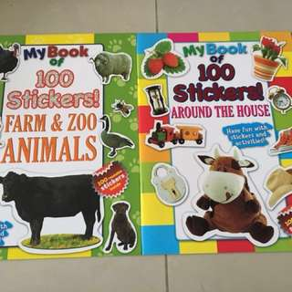 Bundle of 5 books- My Book of 100 Stickers!