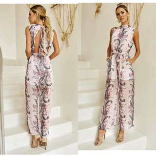 Floral Back Jumpsuit