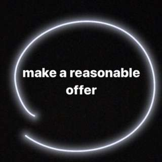 Make a reasonable offer on any of my listings