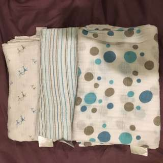 Muslin swaddles 6 pieces