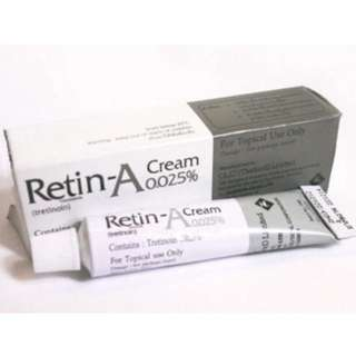 Authentic retin a cream 0.025% 10g for acne wrinkle skin