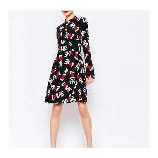 Love Moschino Love Print Sheer Too Dress