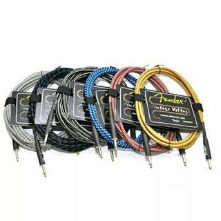 🚚 Fender 高級編織吉他/BASS導線 降噪低雜訊 3米 每條特價399