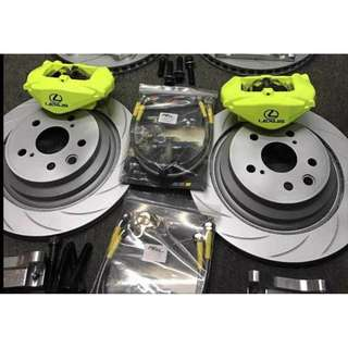 LS 2 POT Big Brake Kit (Rear)