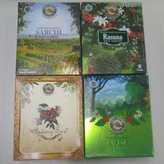全新印尼 Opal Coffee 濾掛式咖啡。 每盒有5包。 每盒28蚊。 黃埔/觀塘/銅鑼灣優先