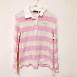 條紋長袖 POLO 衫 #冬季衣櫃出清