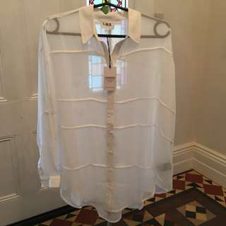 Life with Bird white shirt