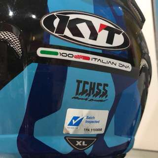 KYT PSB Approved - Blue Gloss