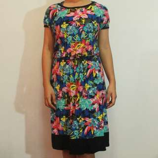 Floral Printed Casual Dress (Repost)