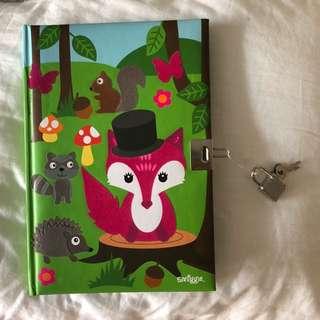 cute lock diary