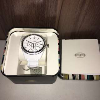 Charity Sale! Authentic Fossil Watch White BQ1194