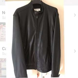 Original Calvin Klein leather moto jacket (Large)