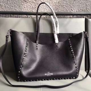 Valentino Leather Tote Bag