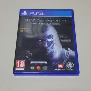 PS4 Shadow of Mordor GOTY
