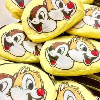 特!日本Chip n Dale糖果色尼龍折叠手提袋 环保袋 购物袋(包郵)