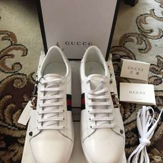 Gucci Ace Sneakers Low Top Spikes Studded Sneakers