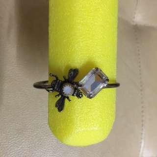 🚚 蜜蜂亮鑽鼓銅手環