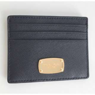 💯 AUTHENTIC Michael Kors Jet Set Travel Large ID Card Holder Saffiano Leather Black/Gold (CLEARANCE)