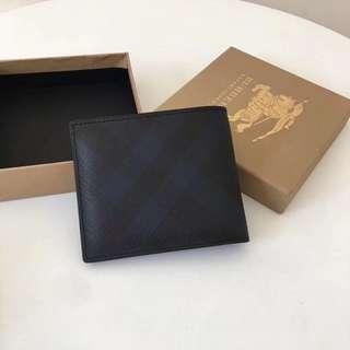 Burberry Short Fold Wallet Blue