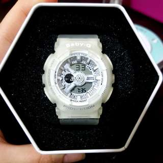 Baby-G Watch (Transparent White)
