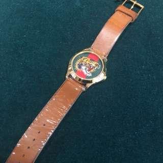 新貨GUCCI老虎頭手錶