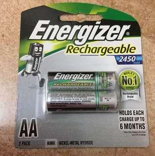 Energizer 2450mAh Rechargeable Batteries