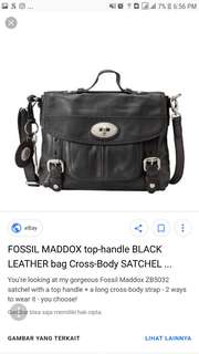 Fossil Maddox Top Handle Black
