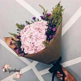 Hydrangeas Flower Bouquet