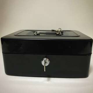 Safety Box with Lock - Black