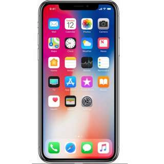 Brand new Iphone X 64 gb Silver - Local set