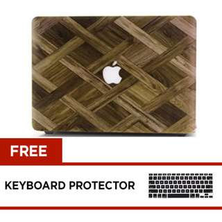 MacBook Pro 13 inches Retina Hard Case with Free Keyboard Protector  WOOD