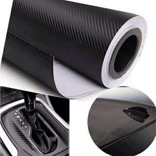 Carbon Fiber Car Sticker Protector Cover Vinyl Decor Waterproof Roll Size 100cm X 30 - Color Black / White / Silver