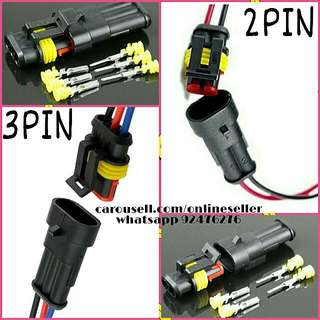 Waterproof 2 pin 2 way 3 Pin 3 Way connector