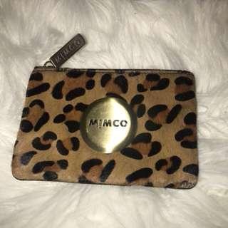 Leopard mimco pouch