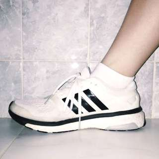 White adidas energy boost runners