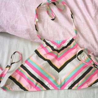 Cotton on body halter bikini top