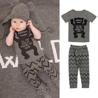 Baju budak Grey