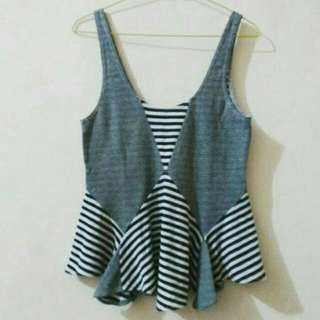 Preloved Stripes Branded Tank Top